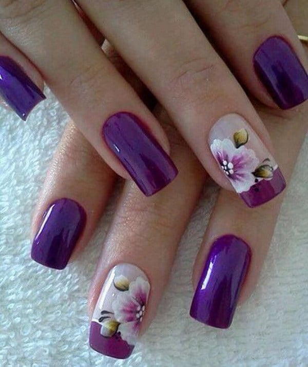 Purple And Orchids nail color