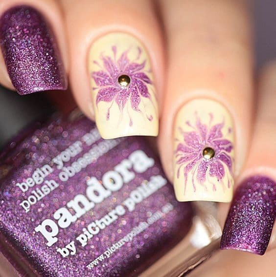 Purple Nail Designs 33