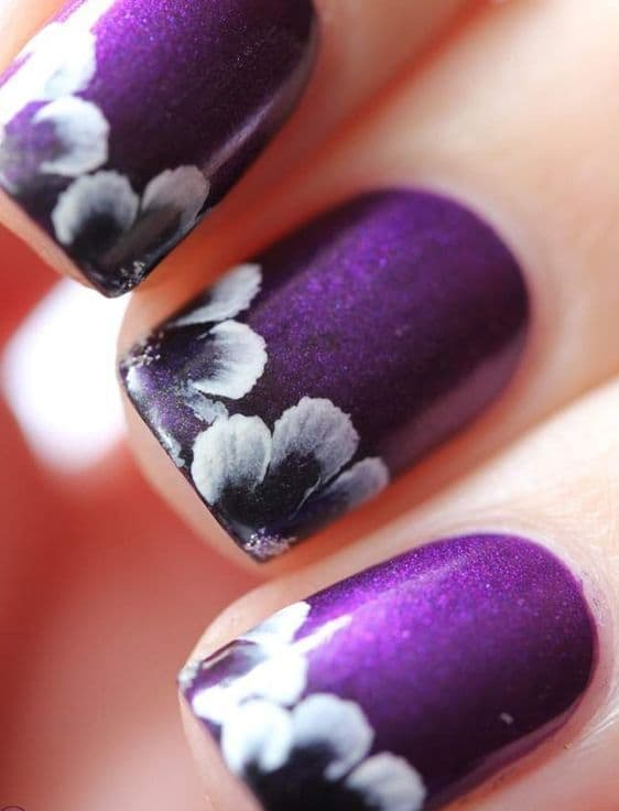 Purple Nail Designs 35