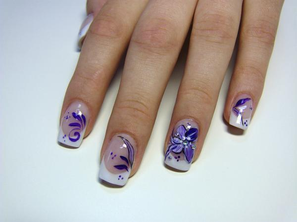 Purple Nail Designs 45