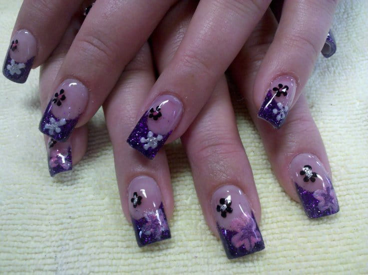 Purple Nail Designs 46