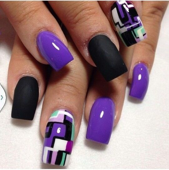 Purple Nail Designs 48