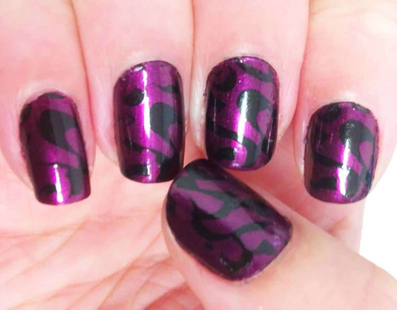 Sincerely Swirly Purple Nail