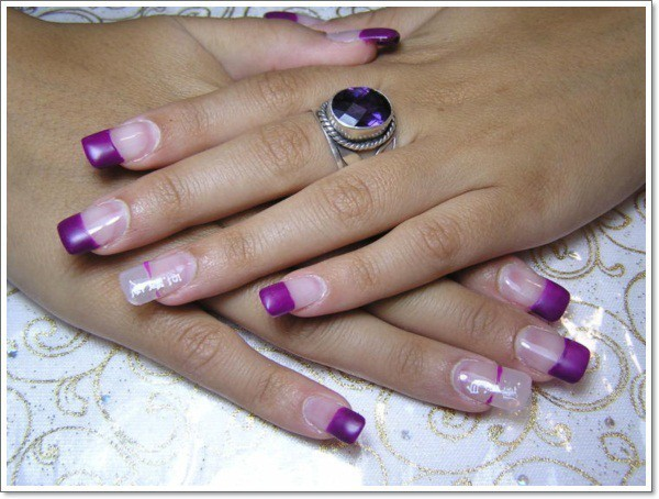 Purple Nail Designs 6