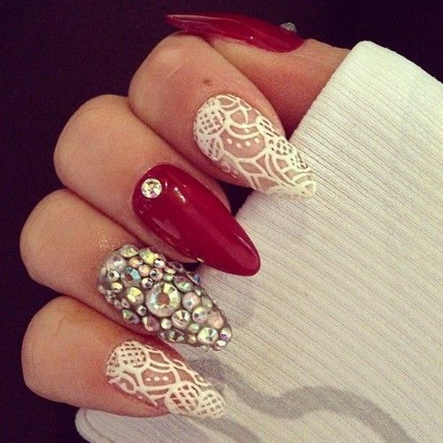 Red Nail Designs 03 - 50 Red Nail Designs To Fall In Love With – NailDesignCode