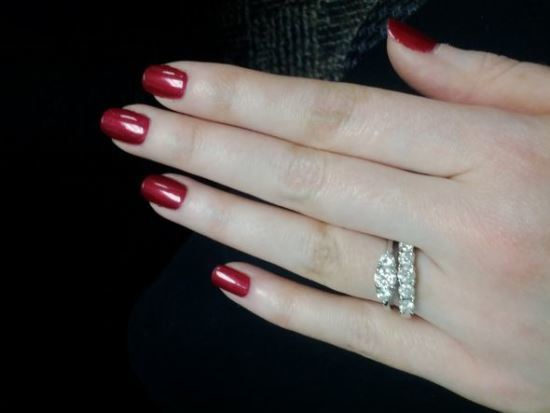 Ruby Red nail
