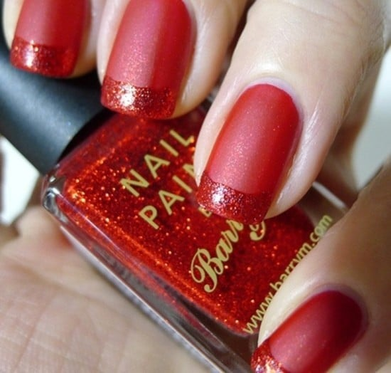 Red Nail for young girl