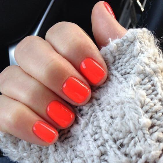 orange Red Nail Designs