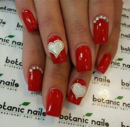 Red Nail Designs 39 - 50 Red Nail Designs To Fall In Love With – NailDesignCode