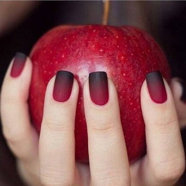 20 stunning red black nail designs youll love to try cardinal blended red black nail design prinsesfo Gallery