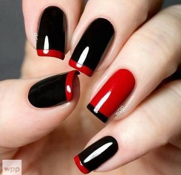 Red and Black nail designs 10