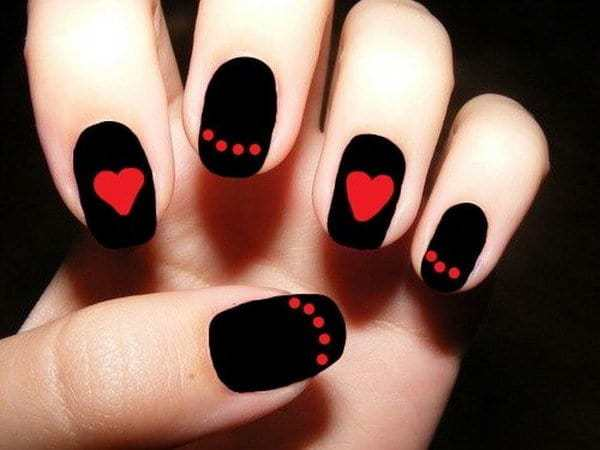Red and Black nail designs 15