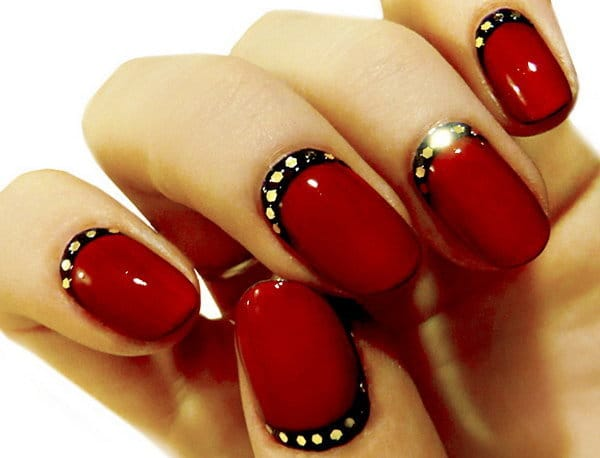 Red and Black nail designs 2