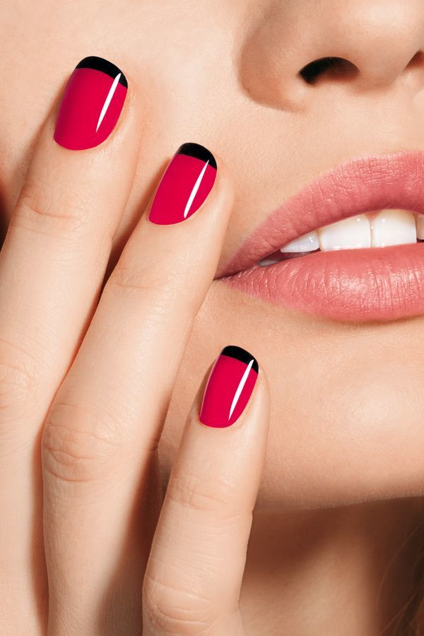 Red and Black nail designs 23
