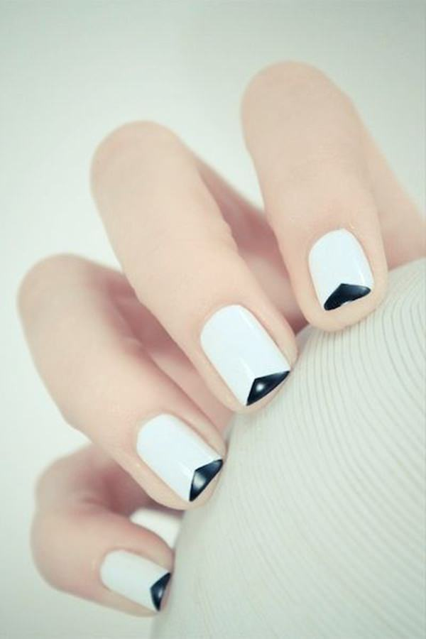 White nail designs 14