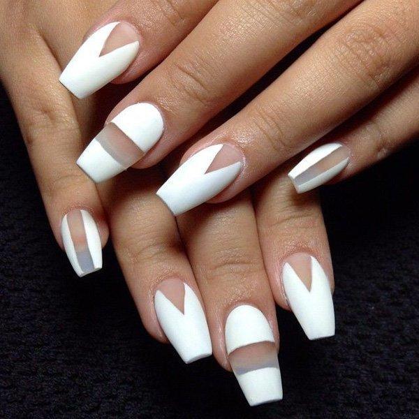White nail designs 23 - 61 Striking White Nail Designs For 2018 – NailDesignCode