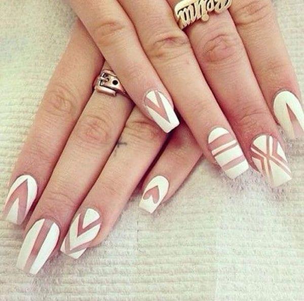 White nail designs 30
