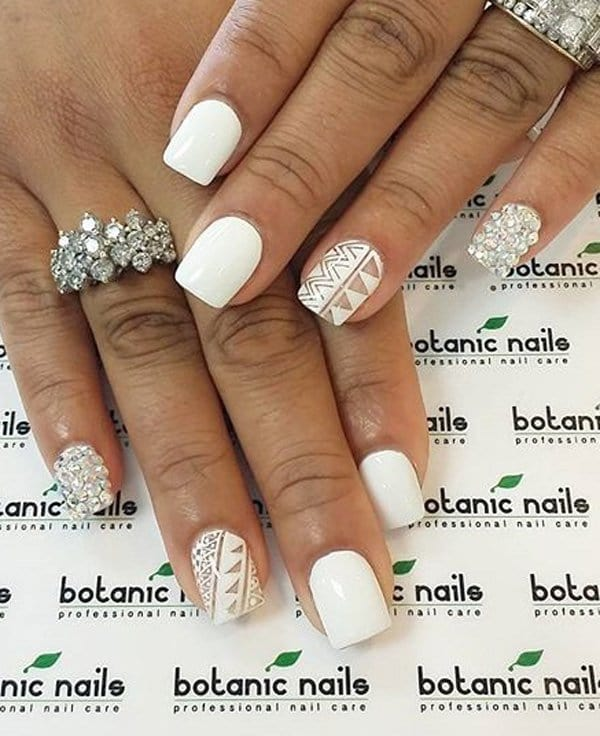 61 Striking White Nail Designs for 2018 – NailDesignCode