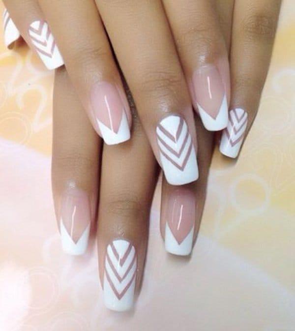 White nail designs 35