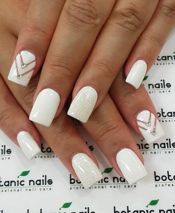 White nail designs 40