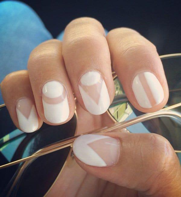 White nail designs 41