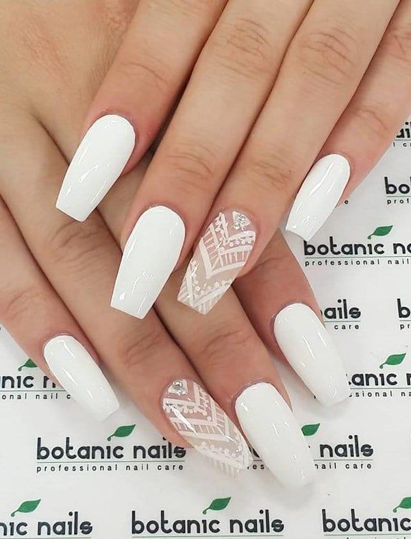 White nail designs 43