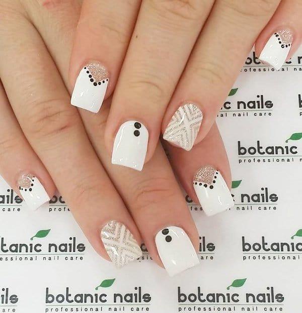 White nail designs 45