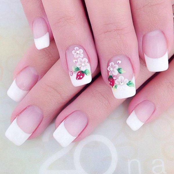 White nail designs 46
