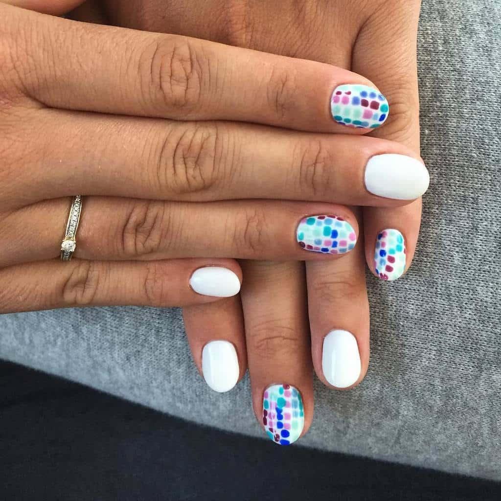 White nail designs 47