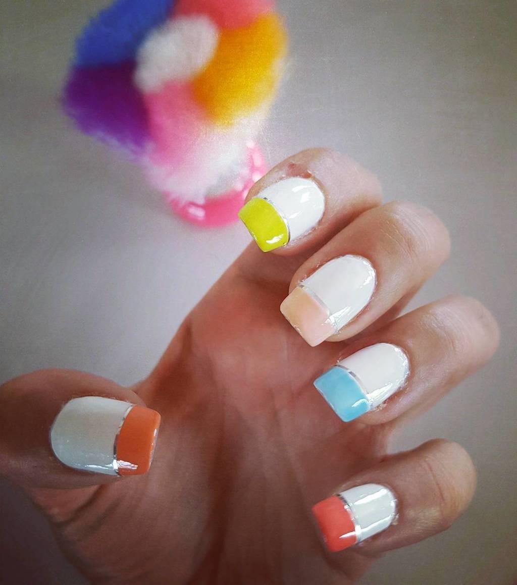 White nail designs 48