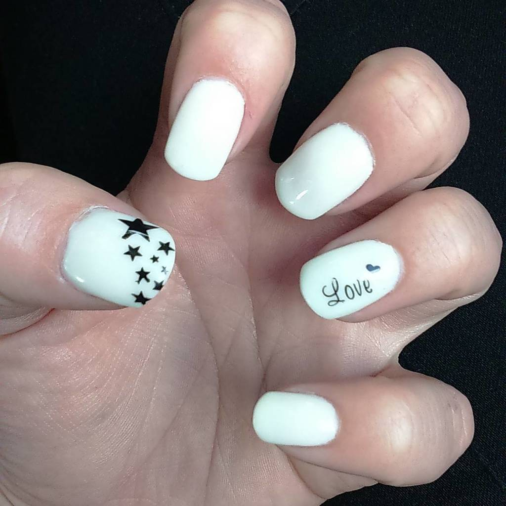 White nail designs 49