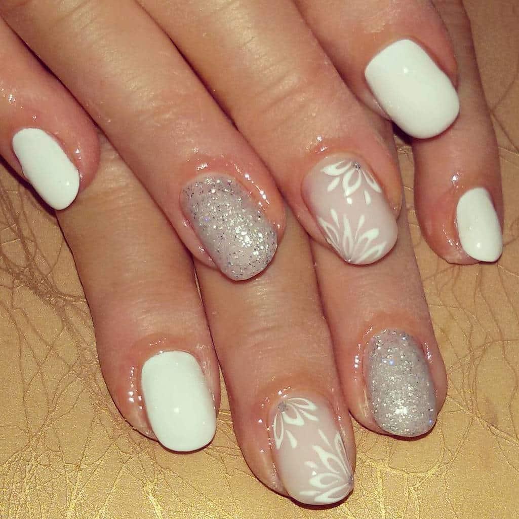 White nail designs 50