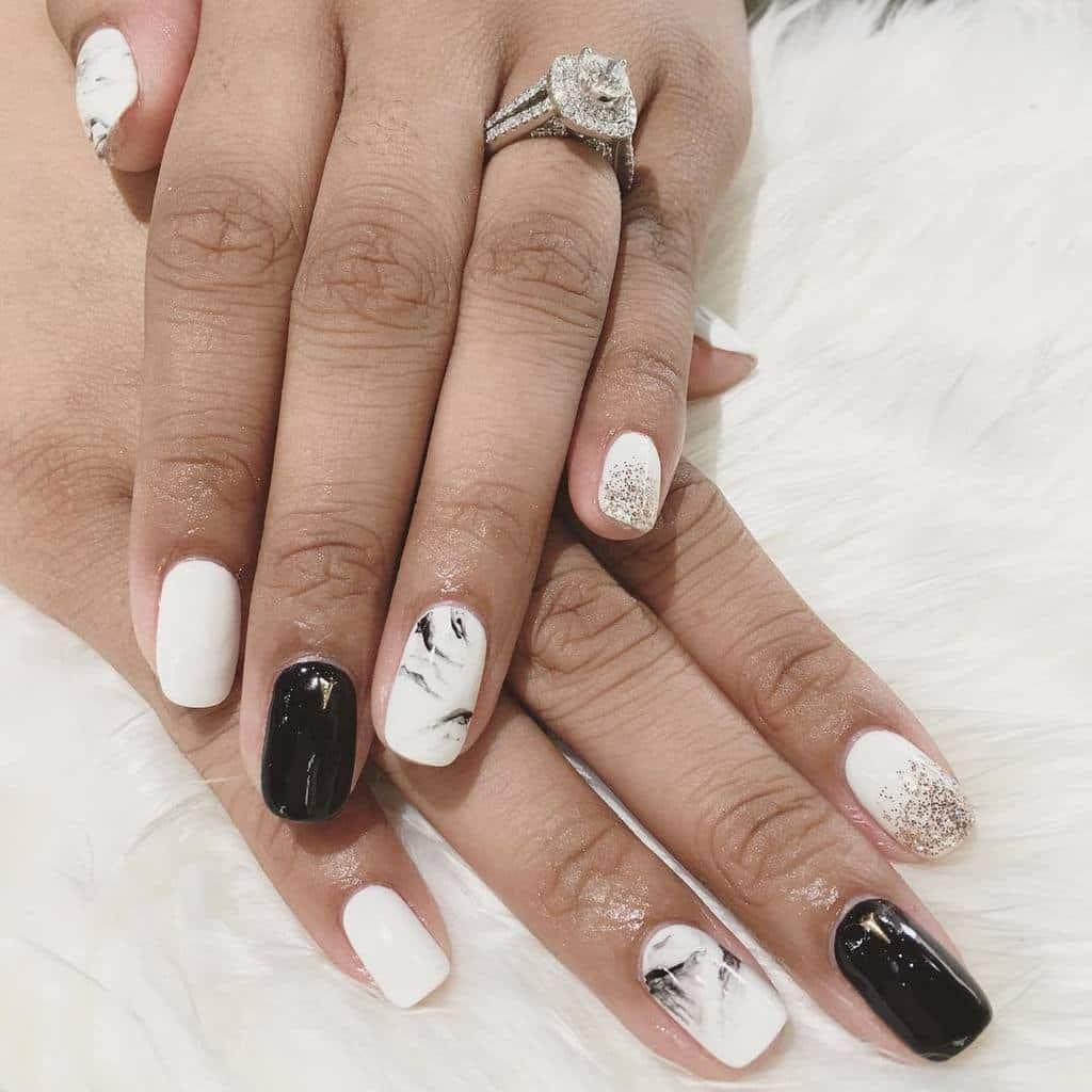 White nail designs 51