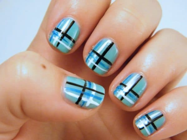 black and blue nail designs 4