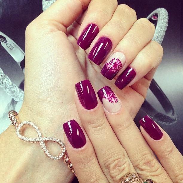 burgundy nail designs 11