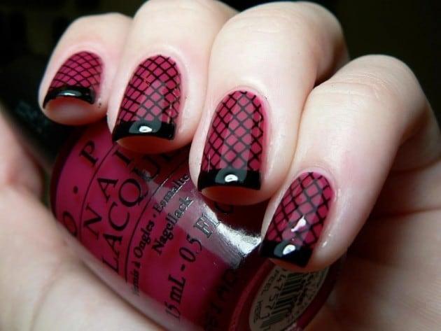 burgundy nail designs 13