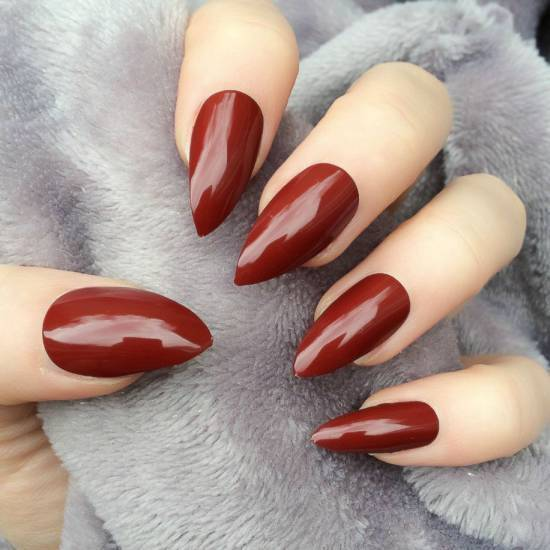 burgundy nail designs 15