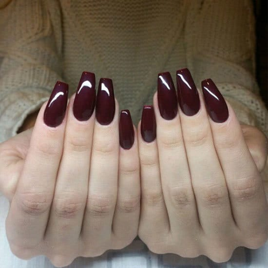 Burgundy nail designs top 20 hot and happening designs burgundy nail designs 16 prinsesfo Choice Image