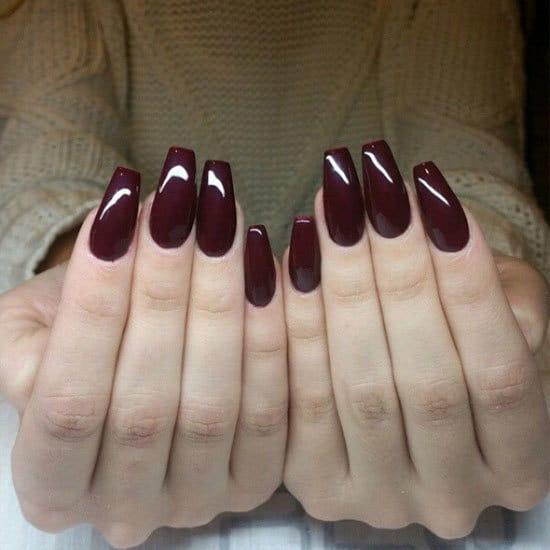 burgundy nail designs 16