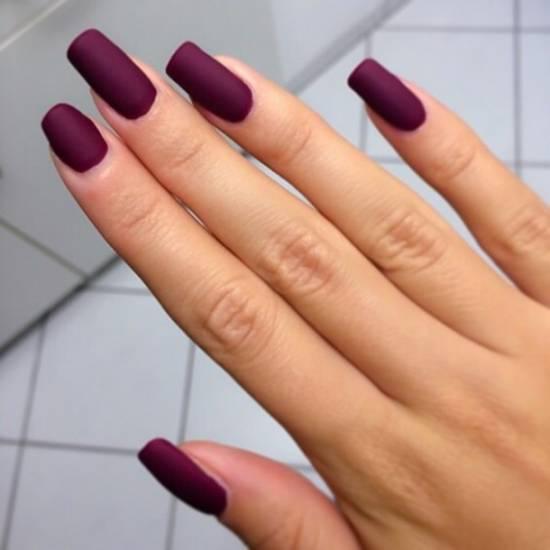 burgundy nail designs 19