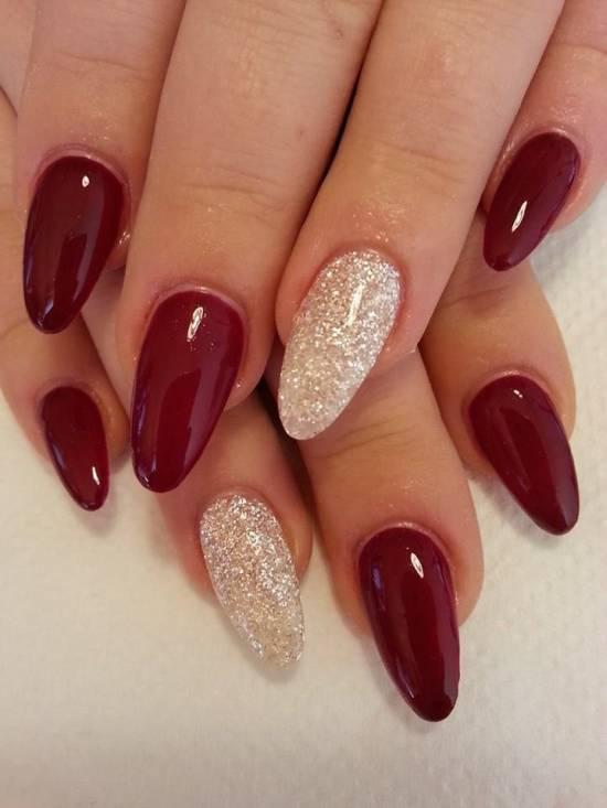 burgundy nail designs 7