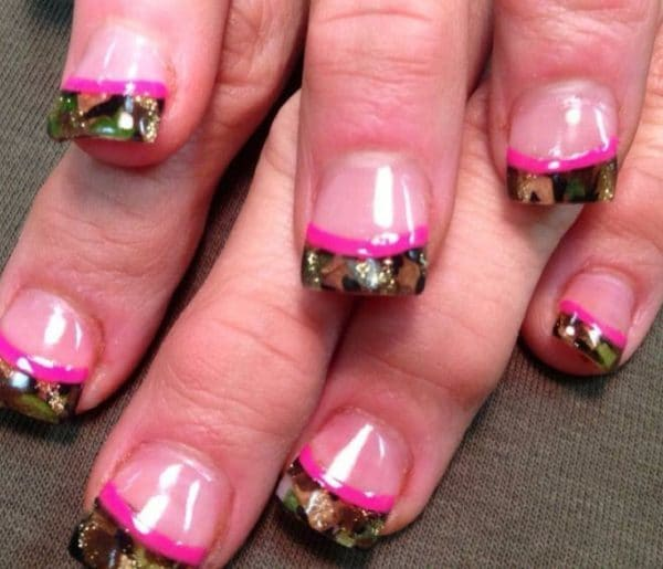 camo nail design idea - 10 Trendy Girly Camo Nail Designs For Every Girl - NailDesignCode