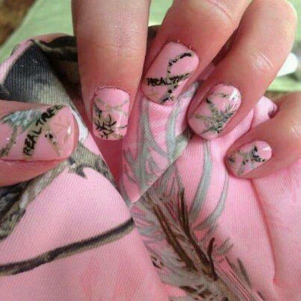 camo nail designs