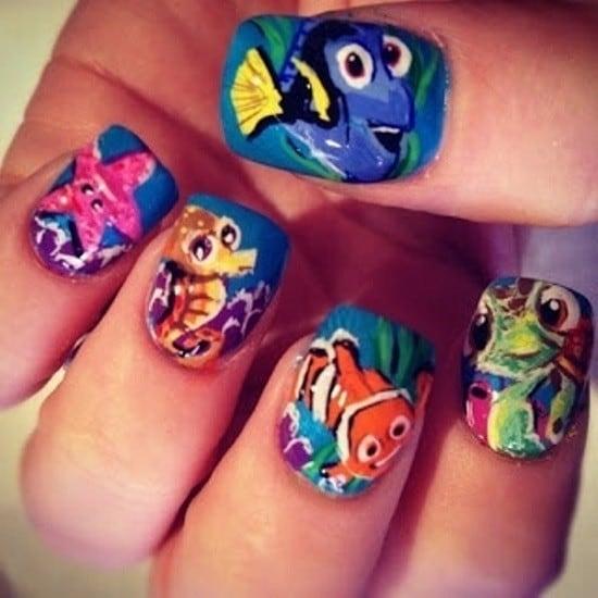 Nemo nail design