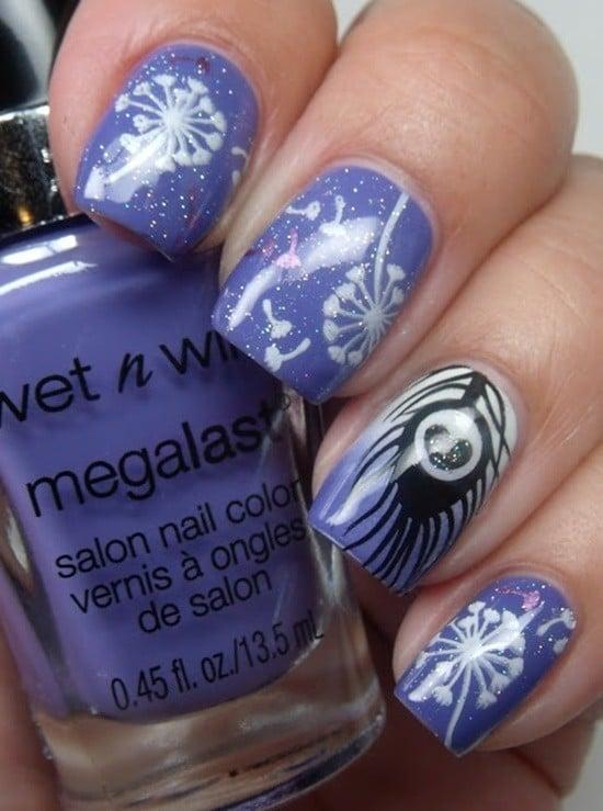 feather & zebra nail designs 10