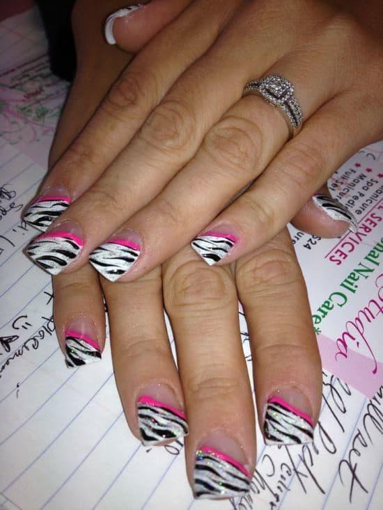 feather & zebra nail designs 11