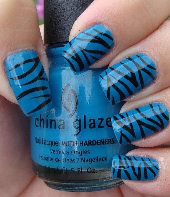 feather & zebra nail designs 15