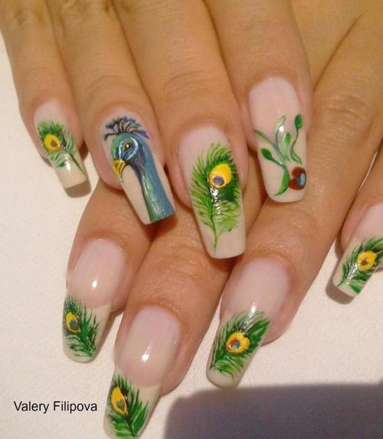 feather & zebra nail designs 2