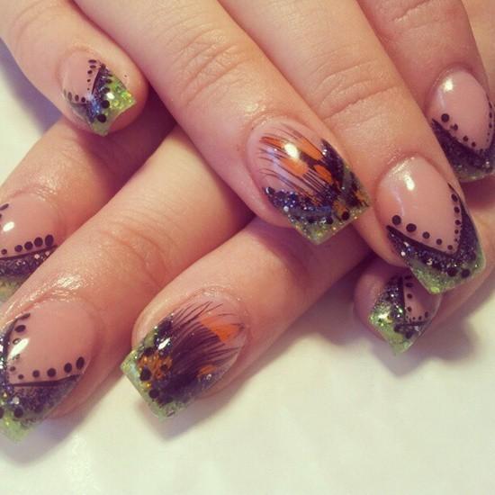 feather & zebra nail designs 4