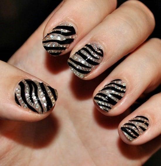feather & zebra nail designs 5